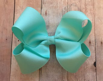 Large Bow, teal, Hair Bows