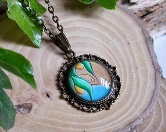 Chep - Original Art BubbleWorld Pendant Three - Jewellery - Necklace
