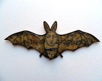 Fledermaus-Wandbehang Vampirfledermaus Dekor Kreatur-Wand-Dekor, Vampir-Dekor, Fledermaus-Dekor, Medienkunst, Halloween-Geschenk, Halloween-Dekoration