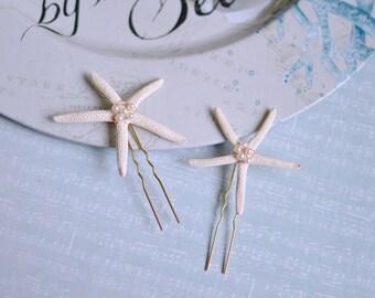 Beach wedding hair pins, Starfish hair pins, Starfish clip, Bridal hair pins, Wedding hair pins, Beach wedding hair accessories, mermeid pin