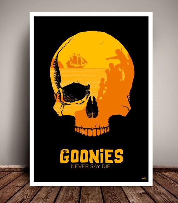 The Goonies // 1980s // Minimalist Movie Poster // Unique Art Print