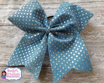 Blue Cheer Bows,Light Blue Cheer Hair Bows,Light Blue Sparkly Cheer Hair Bow,Sparkly Cheer Hair Bows,Blue Sparkly Cheer Hair Bows,Cheer Bow.