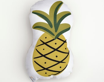 Pineapple stuffed foodie softie eco friendly baby children baby nursery home decor gift