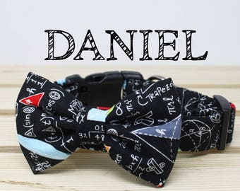 Daniel | Collar and Bow tie Set / Math Inspired Print