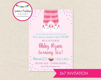 Almost Sleepover Birthday Invitation, Almost Sleepover Birthday, Sleepover Printables, Slumber Party Decorations, Lauren Haddox Designs