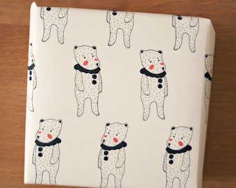 Clown Teddy Bear Gifrt Wrap.