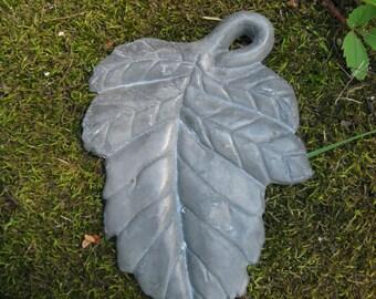 Vintage aluminum ornamental oak leaf