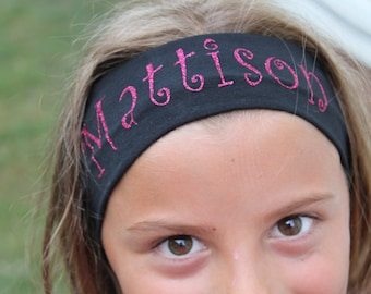 Monogrammed Headband - Custom Headband - Sports band - Personalized headband - Monogram - Gift - girls headband - adult headband - headband