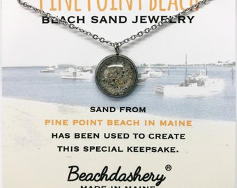 Pine Point Beach Sand Jewelry, Maine Sand Jewelry, Beach Sand Jewelry, Sand Jewelry, Summer, One of a Kind Gift, Made in Maine