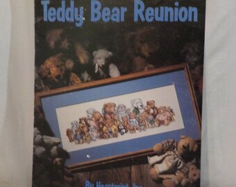 Teddy Bear Reunion-Vintage Cross Stitch Pattern Book 1 Pattern by Leisure Arts