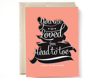 You Are So Loved Card, Love, Anniversary Card