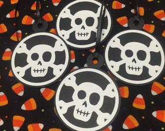 Halloween Skull Gift Tags - Gift Tags  - Halloween Tags - Skulls