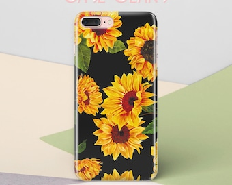 Sunflowers iPhone 7 Case Wood Floral iPhone X Case Flower iPhone 6 Case iPhone 7 Case Case Phone 6s Case iPhone SE Case iPhone 8 Case CG1327