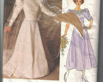 Vogue 1679 Vintage Pattern Wedding Dress or Bridesmaid Dress Size 10 UNCUT
