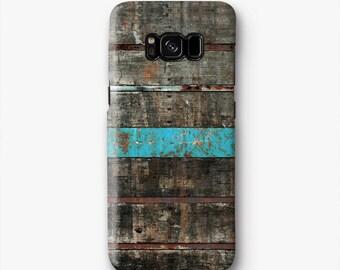 Grano di legno Samsung S8 caso, S8 plus caso, S3 caso, caso S4, S5 caso, nota 2 caso, caso nota 3, nota 4 caso, blu T589B