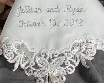 Wedding Handkerchief For Daughter | Handkerchief for Daughter on Wedding Day | Wedding Hanky for Bride