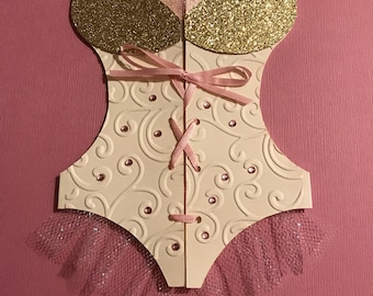 Bridal Shower, Lingerie Corset, Bachelorette Party Invitation.