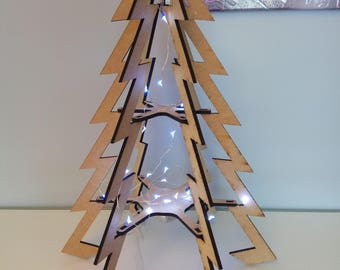 Modern painting wood design Christmas tree