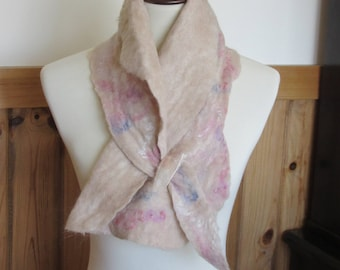 Alpaca Nuno Felted Scarf/Neckwarmer - Handmade from Alpaca and Other Fibers