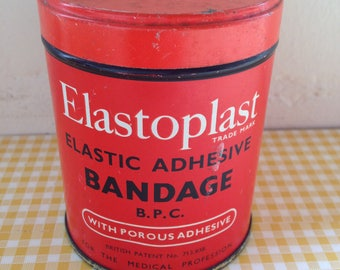 Vintage Red Elastoplast Tin