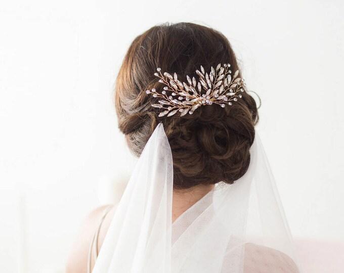 Crystal Bridal Hair Comb, Gold Crystal Comb, Wedding Hair Comb, Wedding Hair Accessories, Bridal Headpiece, Gold Headpiece, Gold Hair Comb
