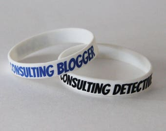 Consulting Detective & Blogger Matching Friendship Jelly Rubber Bracelet Set