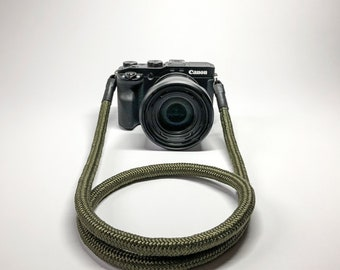 Camera Strap for DSLR green-Camerastrap-rope-camera Band-10 mm-Universal shoulder strap-carrying strap-Sony Olympus-Seilstyles