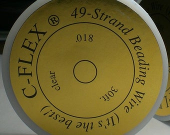 C-Flex Heavy Beading Wire .018 49 Strand 30 Feet CFlex018