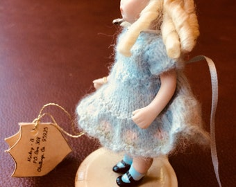 Porcelain blonde girl doll Tony Beth