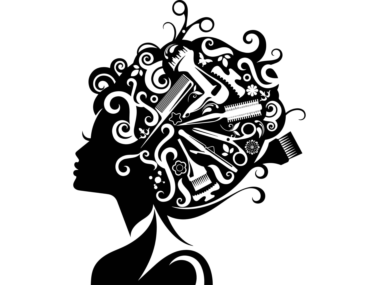 hair style salon beauty scissors comb hairdresser female. Black Bedroom Furniture Sets. Home Design Ideas
