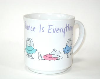Sandra Boynton Mug DANCE IS EVERYTHING - With Hippos in Tutus - Recycled Paper Products