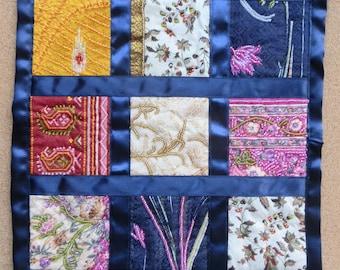 Sari Squares Art Quilt
