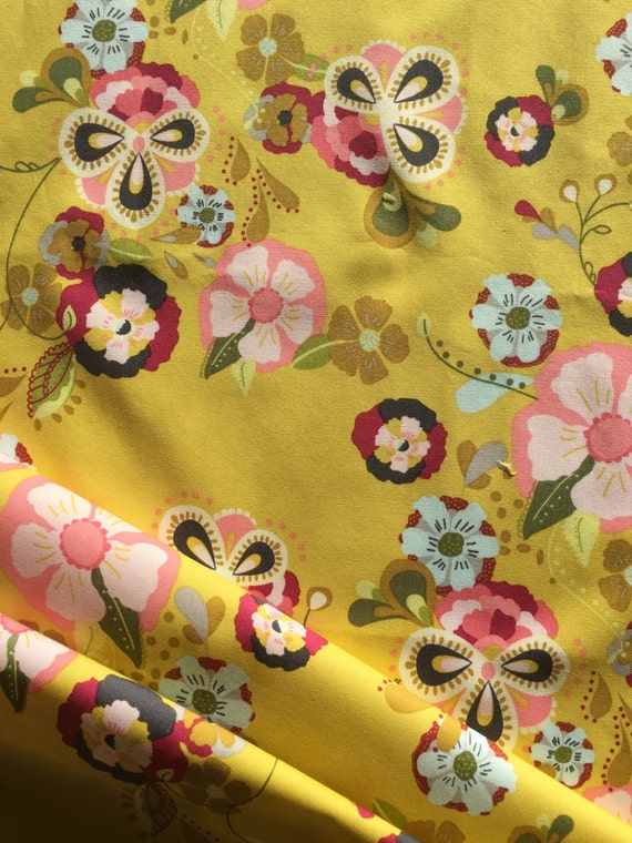 Art Gallery Bari J Emmy Grace Floral Floats Remnant 1/4 to 1/2 yard