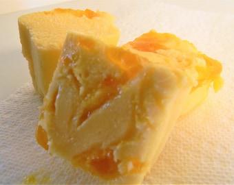 Julie's Fudge - White Chocolate APRICOT Swirl - Half Pound