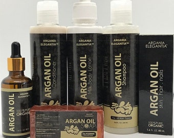 100% Pure and Organic Argan Oil - Complete Collection