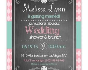 Bridal Shower Invite, Wedding Invite, Bridal Shower Invitation, CUSTOM for YOU - 4x6 or 5x7 photo card
