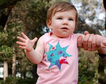 Baby Girl Pink Tank top, Light Pink Tank Top with Sun, Baby Girl Tees, Infant Tank Top, Toddler Tank Top, Baby Girl Clothes, Girl Shirt
