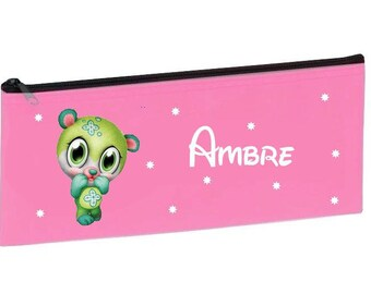 Personalized with name pink school green Teddy bear Kit