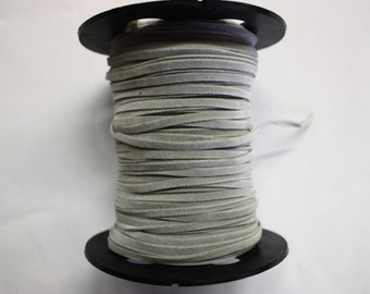 Gray Faux Suede Trim 10 Yards