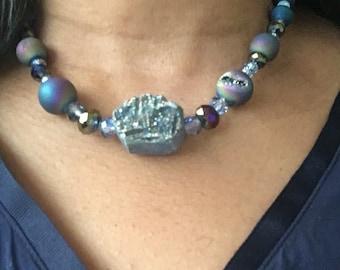 Navy blue lava abd sparkles