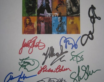Rent Signed Film Movie Script Screenplay X16 Autographs Adam Pascal Idina Menzel Taye Diggs Anathony Rapp Rosario Dawson Sarah Silverman