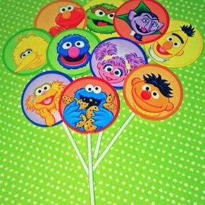 10 Sesame Street Cupcake Toppers