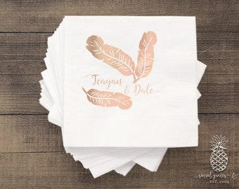 Banana Leaf Party | Customizable Cocktail Napkins | Birthdays, Weddings, Engagement Bridal Parties or Baby Shower | social graces and Co