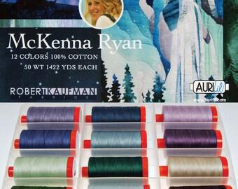 AURIFIL Set of 12 MAKO 50 Wt McKenna Ryan Collection Quilting Thread