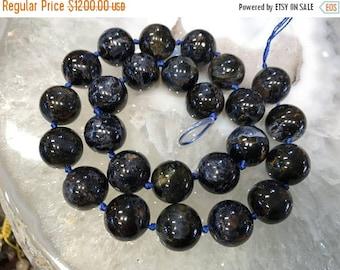 50% Mega Sale 15mm Blue Pietersite Round Gemstone - Great Chatoyance