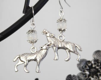 Moonstone Werewolf Earrings