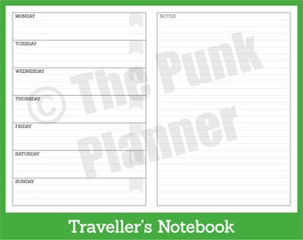 D010-TN Basic Diary with Notes - WO1P+ Spread
