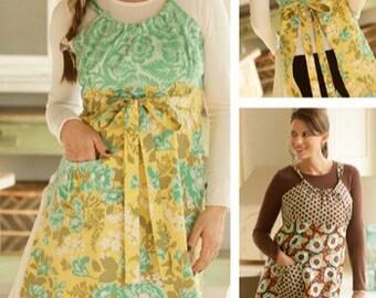 Uptown Apron PDF sewing epattern - adjustable bust, waist ties apron digital apron pattern