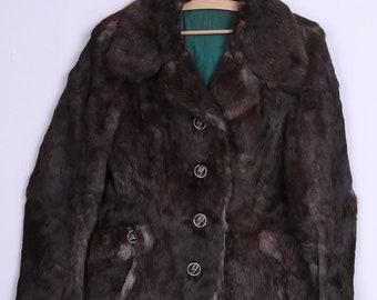 Classic Womens S Fur Jacket Brown Rabbit Vintage