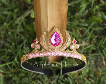Aurora Crown,Aurora Headband, Sleeping Beauty Crown,Birthday Aurora Crown,Sleeping Beauty Tiara,Sleeping Beauty Birthday,Aurora Tiara
